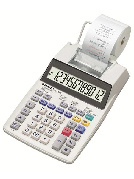 Sharp EL-1750V Printing Calculator 12-digit Display Black/Red Print Grey Ref EL-1750V