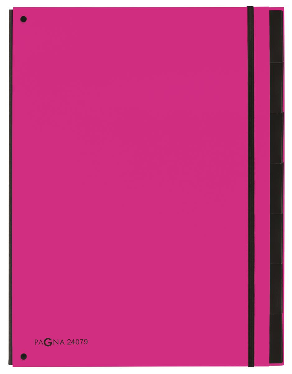 Pagna Master Organiser Hardback 12-compartments Elasticated Strap A4 Pink Ref 2407934 [Pack 8]