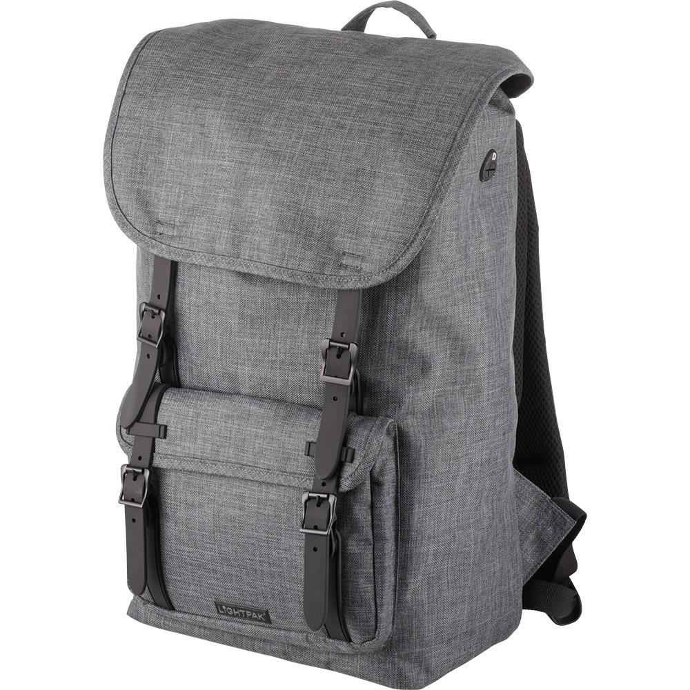 Lightpak Rider Backpack with 15in Padded Laptop Compartment Polyester Grey Ref 46161