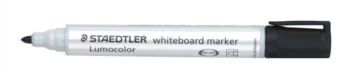 Staedtler 351 White Board Marker Pen Locked Tip 2mm Line Black Ref 351-9 [Pack 10]