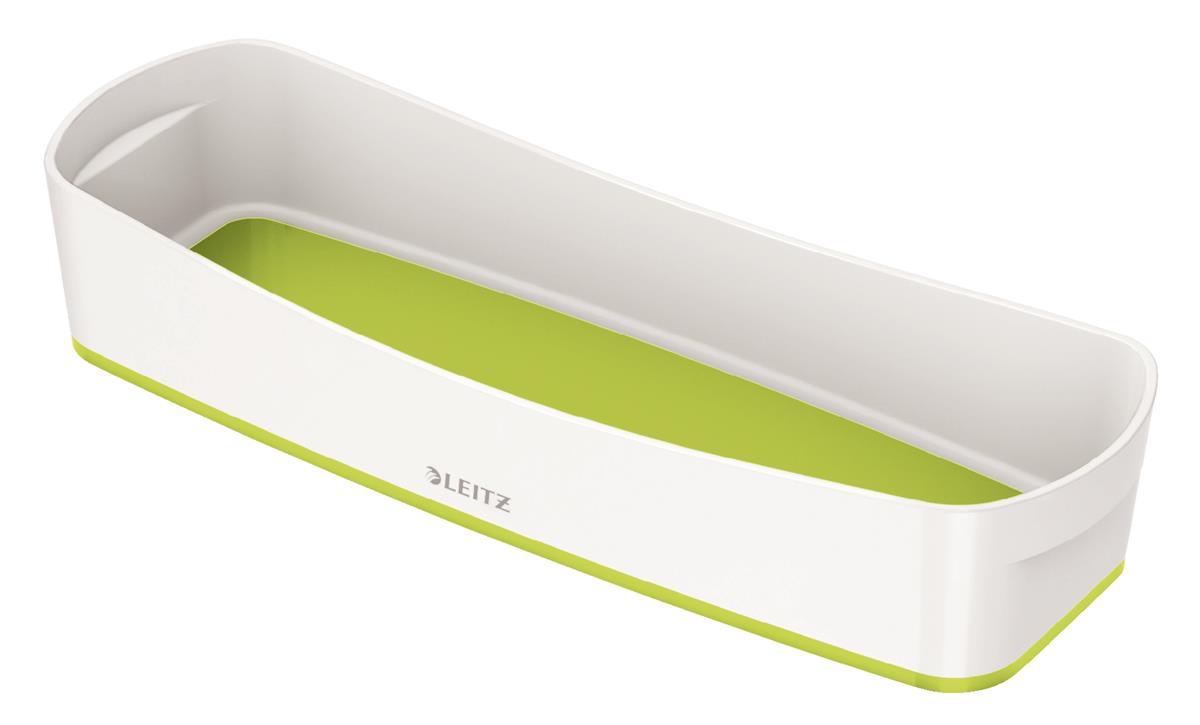 Leitz MyBox Long Organiser Tray ABS Material W307xD105xH55mm White/Green Ref 52581064