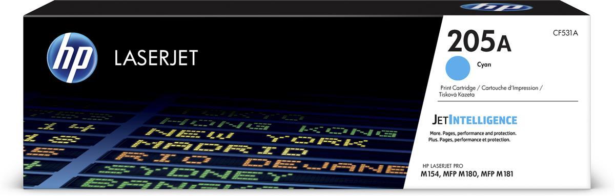Hewlett Packard [HP] 205A Laser Toner Cartridge Page Life 900pp Cyan Ref CF531A