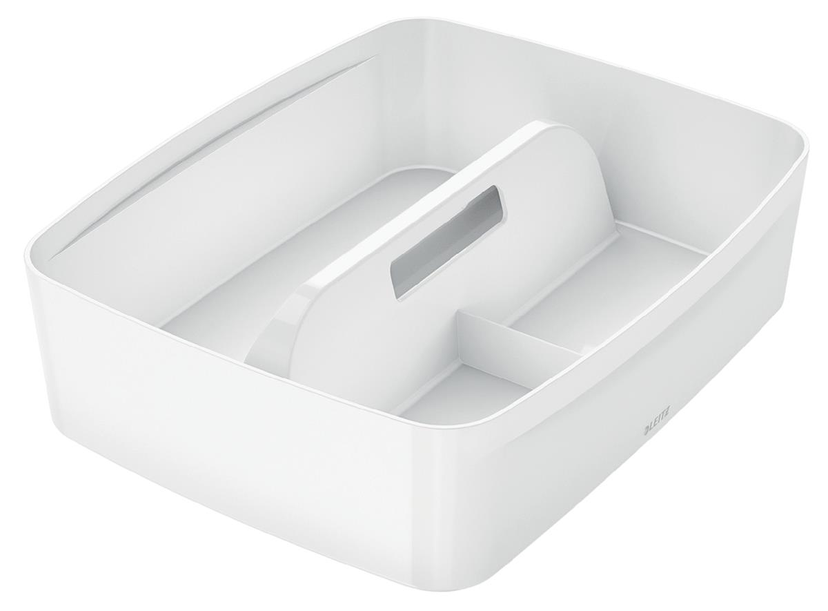 Leitz MyBox Organiser Tray with Handle ABS Material W375xD307xH101mm White Ref 53220001