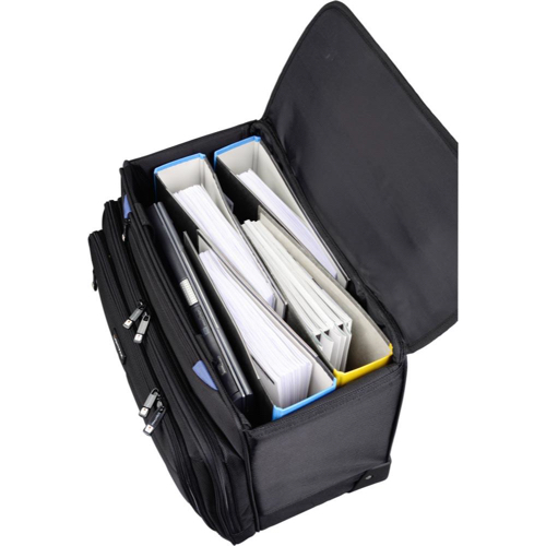 Lightpak Pioneer Pilot and Business Case with Telescopic Handle Polyester Black Ref 46108