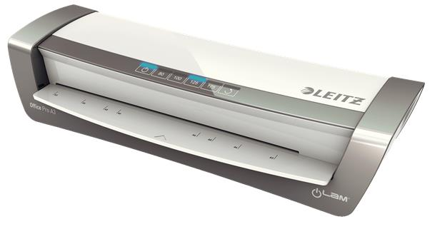 Leitz iLam Office Laminator Up To 175 Microns 1min Warm-up Time A3 Silver Ref 75181084