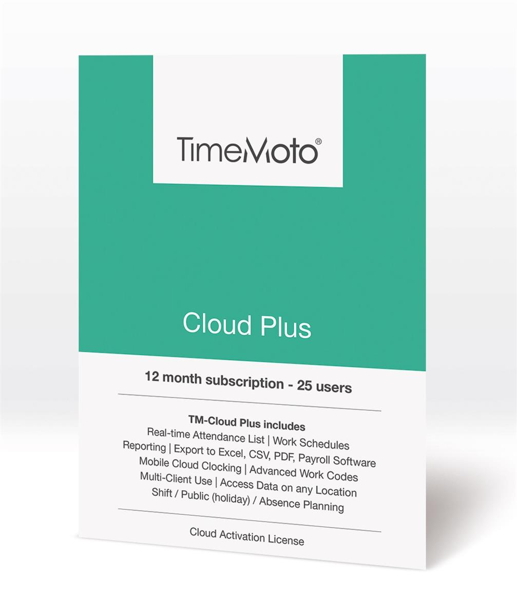 Safescan TimeMoto TM Cloud Plus for Time & Attendance System 25 Users Ref 139-0591
