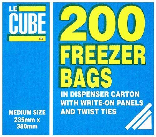 LeCube Food/Freezer Bags Medium Ref 391 [Pack 200]