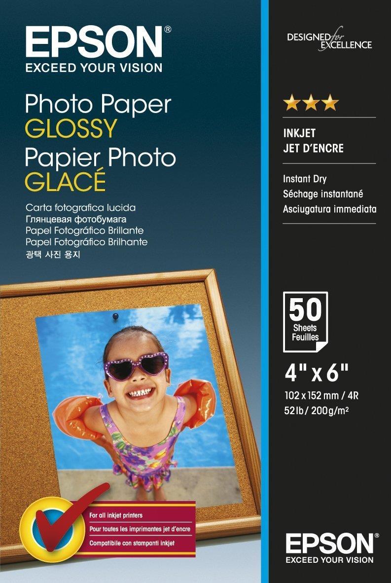 Epson Premium Photo Paper Semi-gloss 200gsm 100x150mm Ref S042547 [Pack 50]