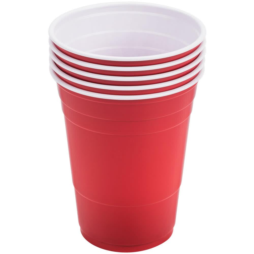 Solo Party Cups Polystyrene Disposable 12oz Red Ref P16R [Pack 50]
