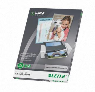 Leitz Laminating Pouches 80 Micron A4 Clear Ref 74780000 [Pack 100]
