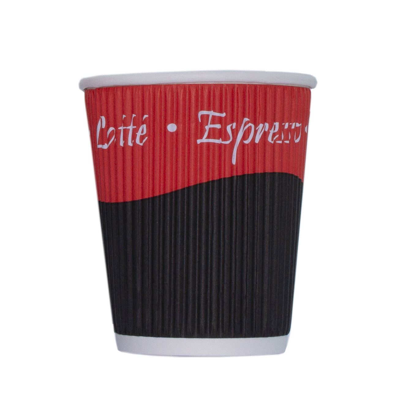 Disposable Cups & Accessories Ripple Paper Cups Triple Walled PE Lining 8oz 236ml Varied Design Ref RY00749 Pack 25