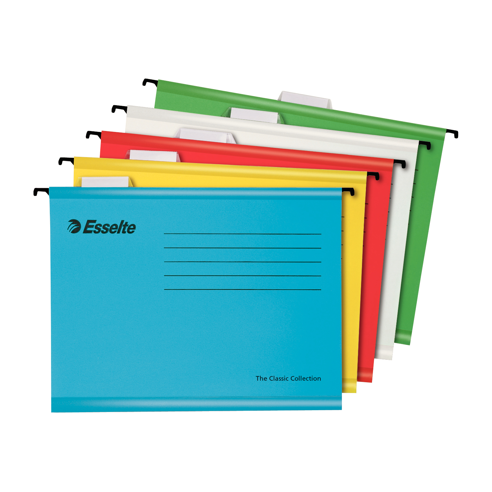 Hanging folders or accessories Esselte Classic Reinforced Suspension Files 210gsm A4 Astd Ref 93042 Pack 10