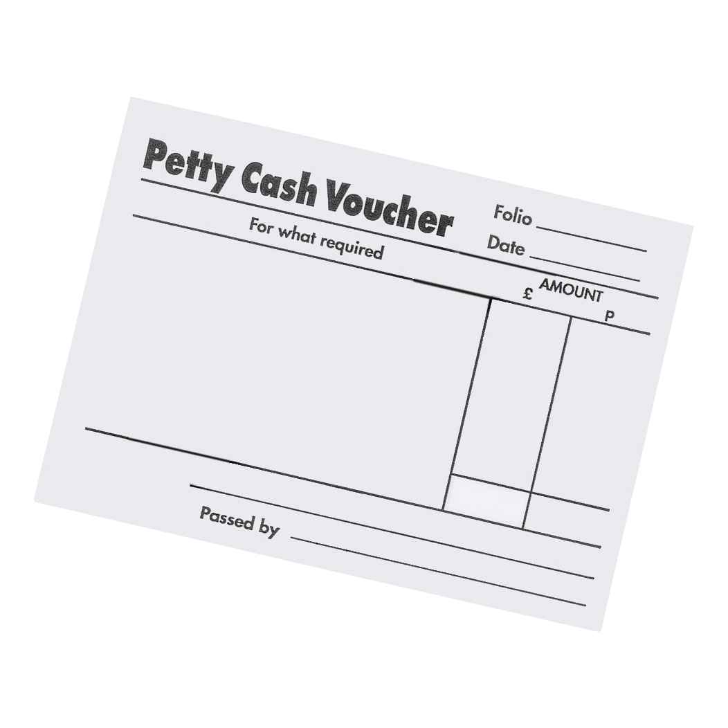 5 Star Office Petty Cash Pad 80 Sheets 88x138mm Pack 5