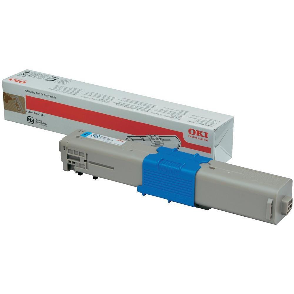 OKI Laser Toner Cartridge Page Life 1500pp Cyan Ref 44973535