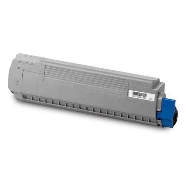 OKI Laser Toner Cartridge Page Life 7300pp Cyan Ref 44059167