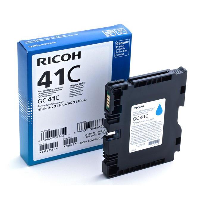 Ricoh Gel Inkjet Cartridge Page Life 2200pp Cyan Ref GC41C 405762