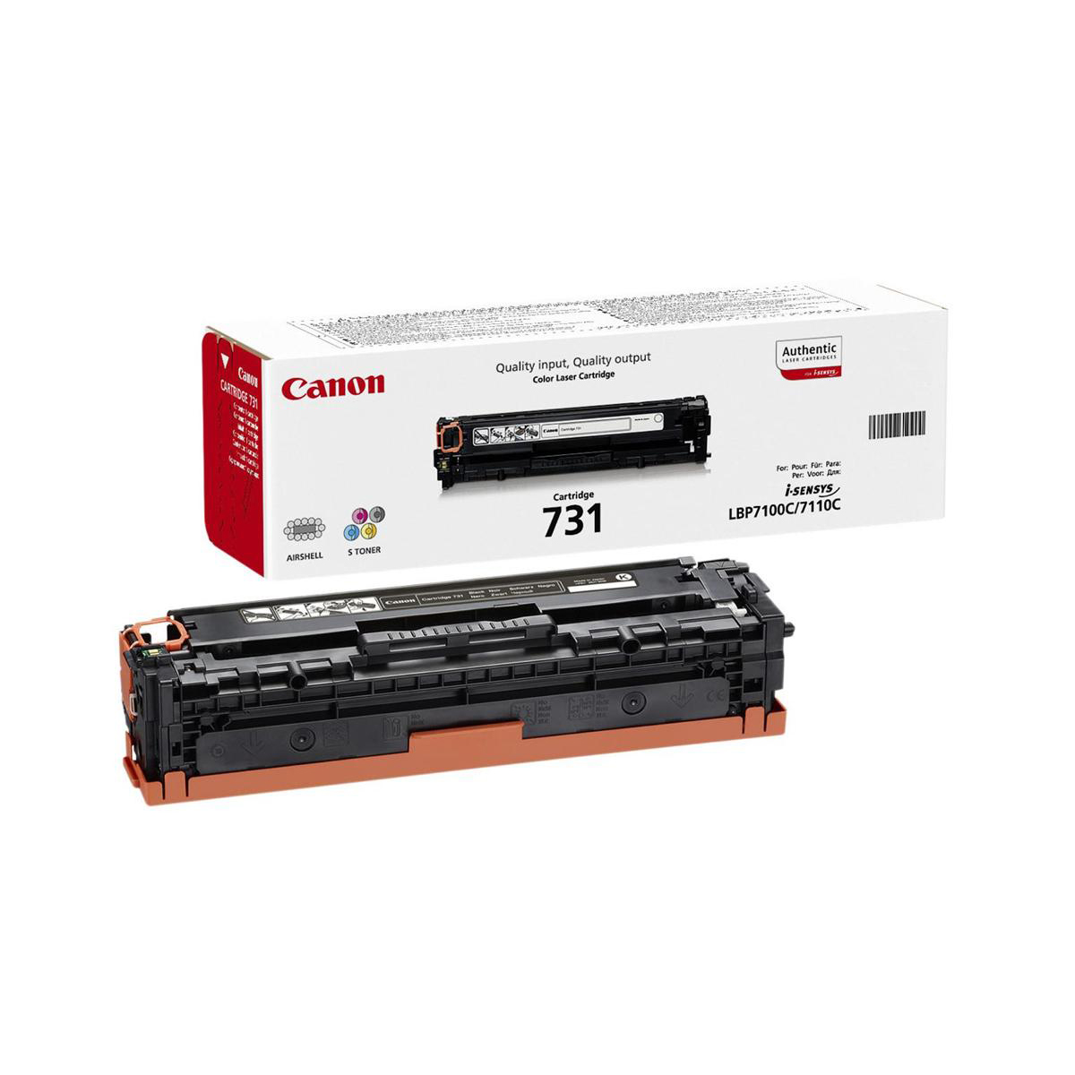 Canon 731Y Laser Toner Cartridge Page Life 1500pp Yellow Ref 6269B002