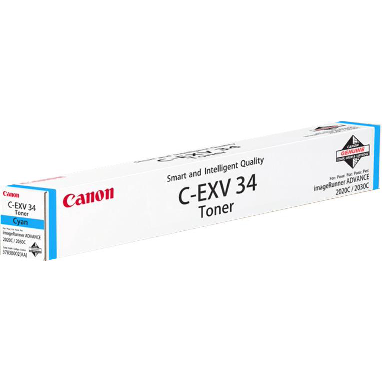 Canon C-EXV34 Laser Toner Cartridge Page Life 19000pp Cyan Ref 3783B002AA