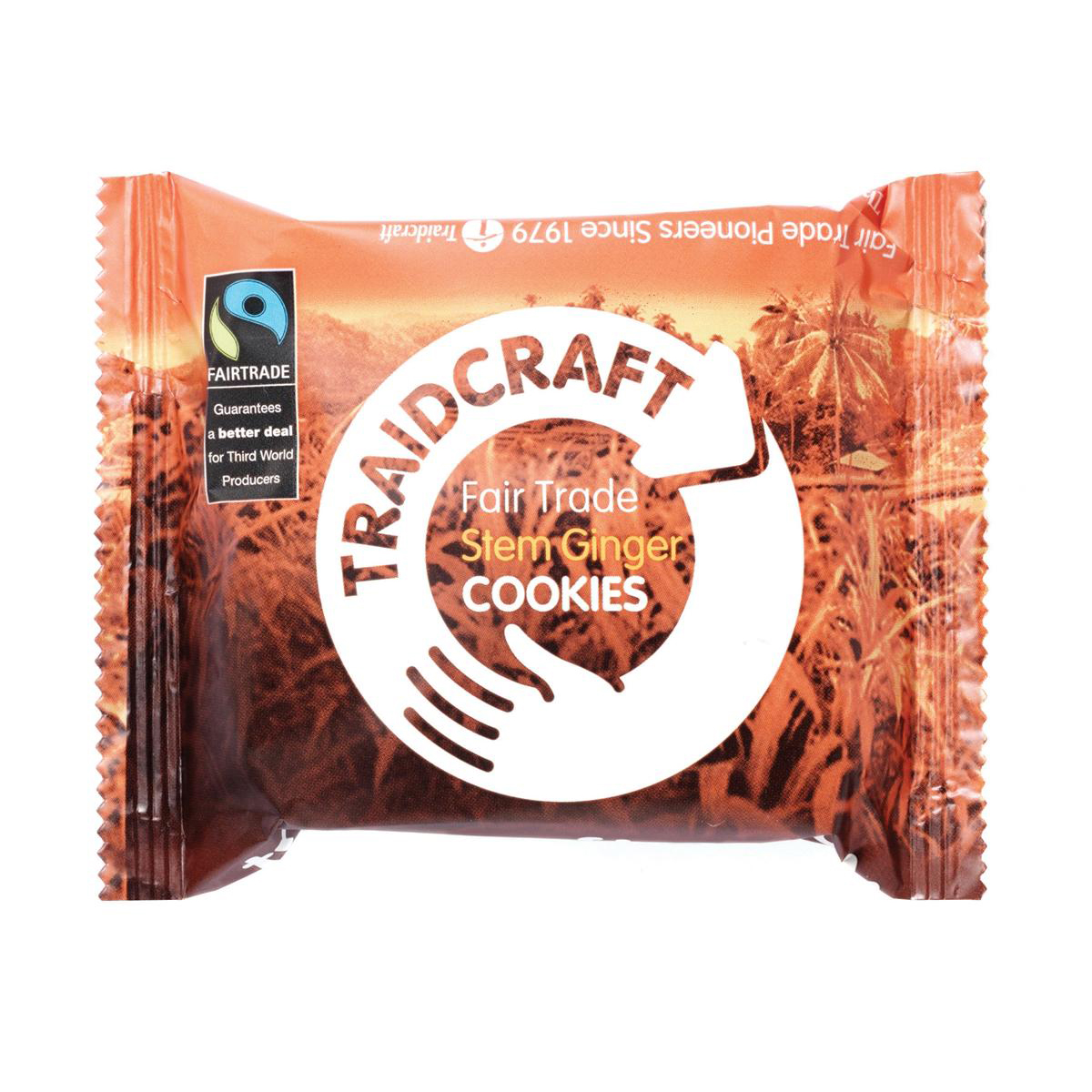 Traidcraft Cookies Stem Ginger Fairtrade 2 per Minipack Ref A07821 Pack 16