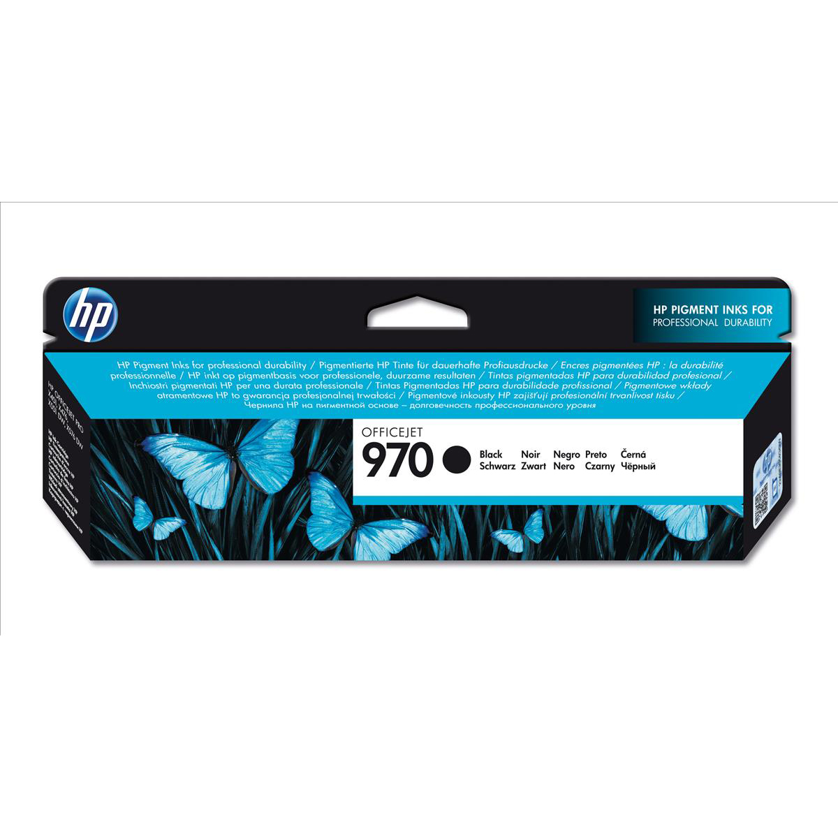 Hewlett Packard HP 970 Officejet Inkjet Cartridge Page Life 3000pp Black Ref CN621AE