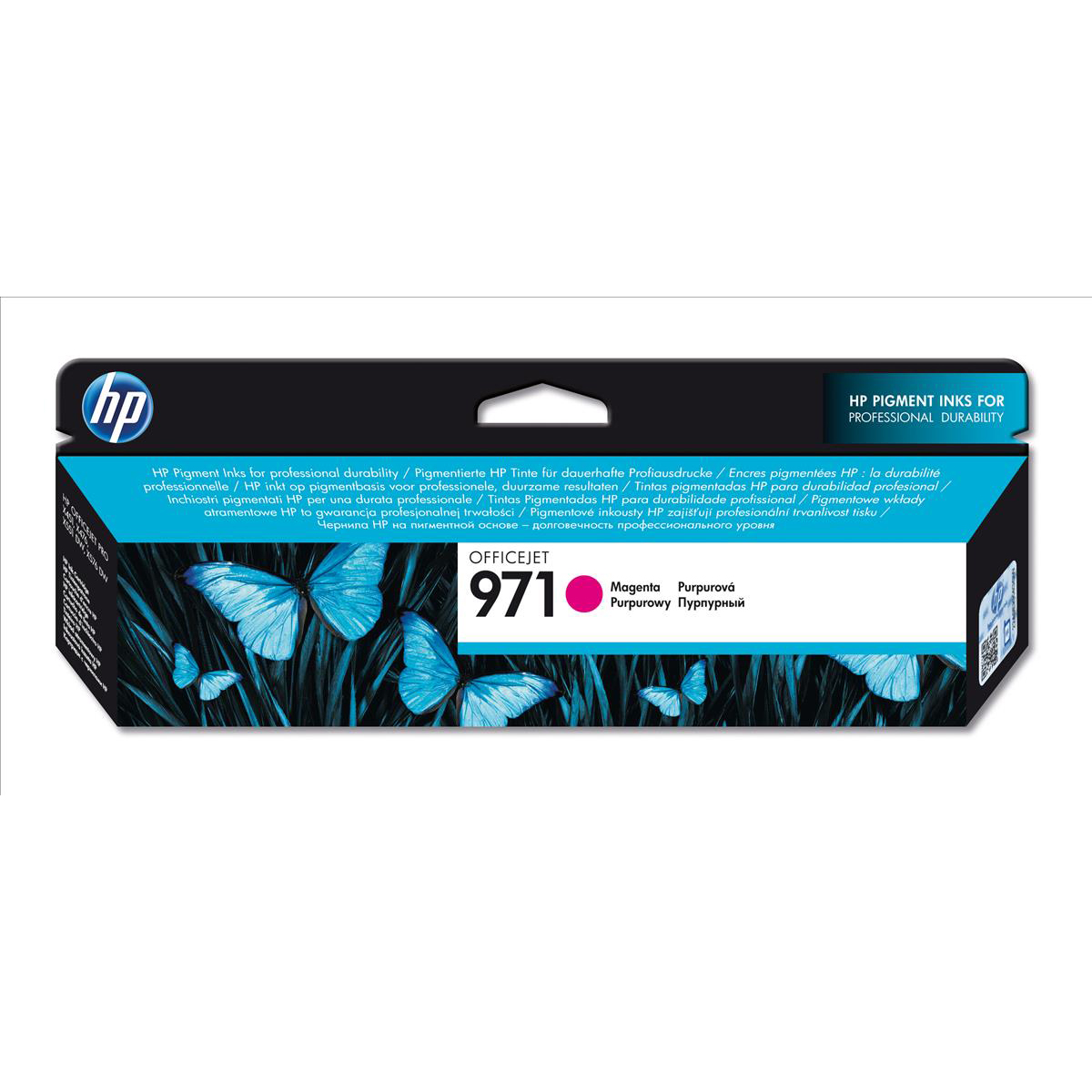Hewlett Packard HP 971 Officejet Inkjet Cartridge Page Life 2500pp Magenta Ref CN623AE
