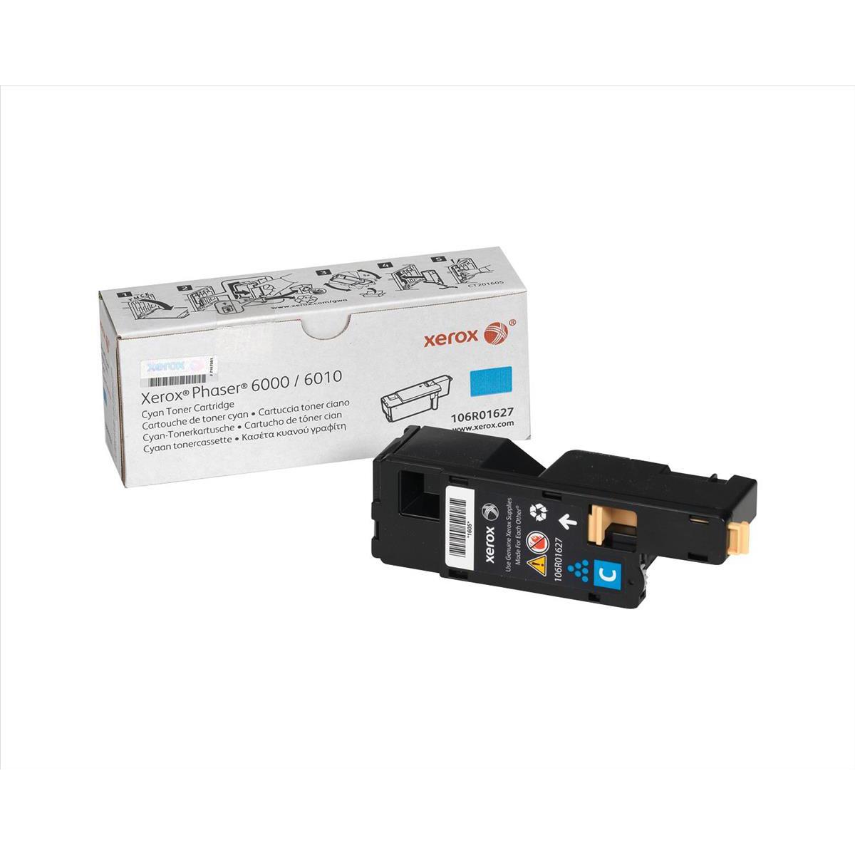 Xerox Phaser 6000 Laser Toner Cartridge Page Life 1000pp Cyan Ref 106R01627