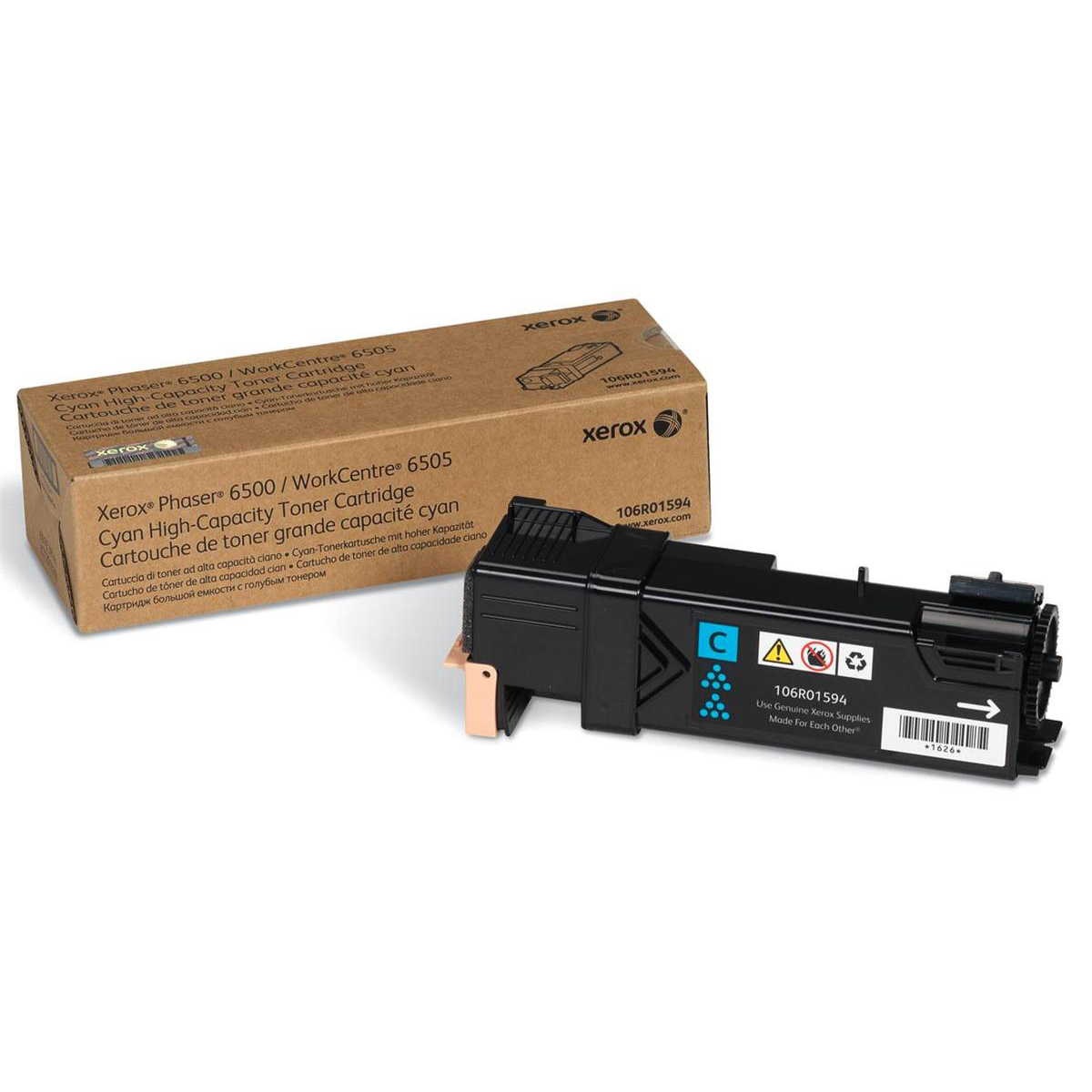 Xerox Phaser 6500 Laser Toner Cartridge High Yield Page Life 2500pp Cyan Ref 106R01594