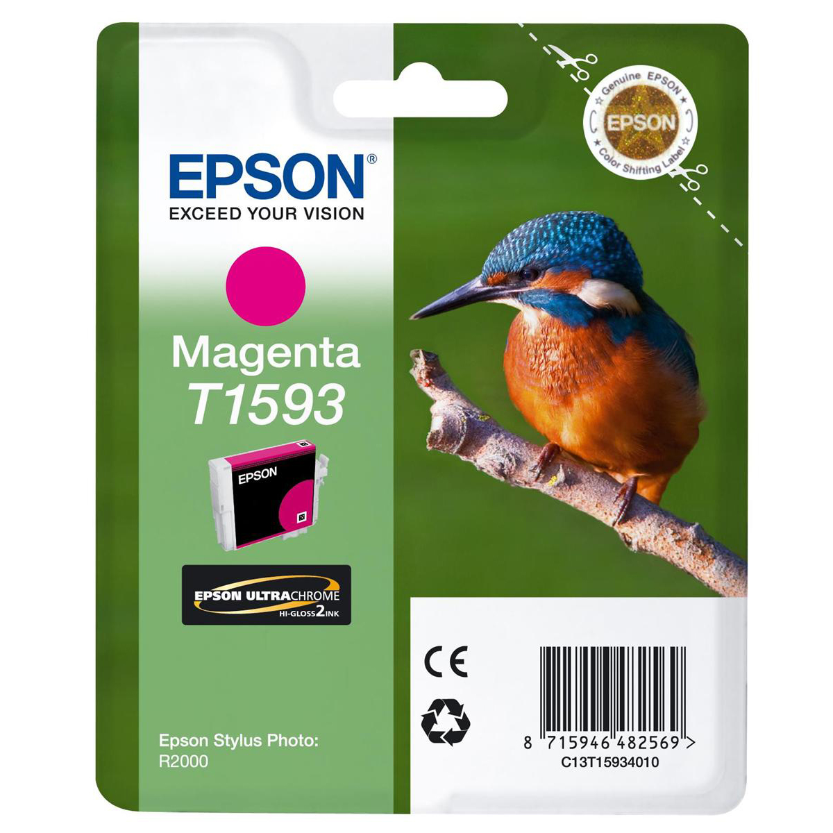 Epson T1593 Inkjet Cartridge17ml Magenta Ref C13T15934010