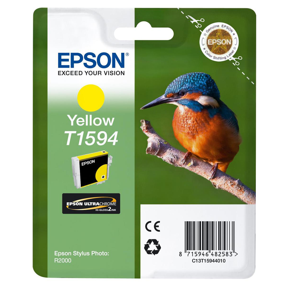 Epson T1594 Inkjet Cartridge Yellow Ref C13T15944010