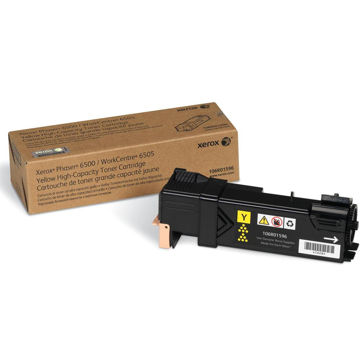 Xerox Phaser 6500 Laser Toner Cartridge High Yield Page Life 2500pp Yellow Ref 106R01596