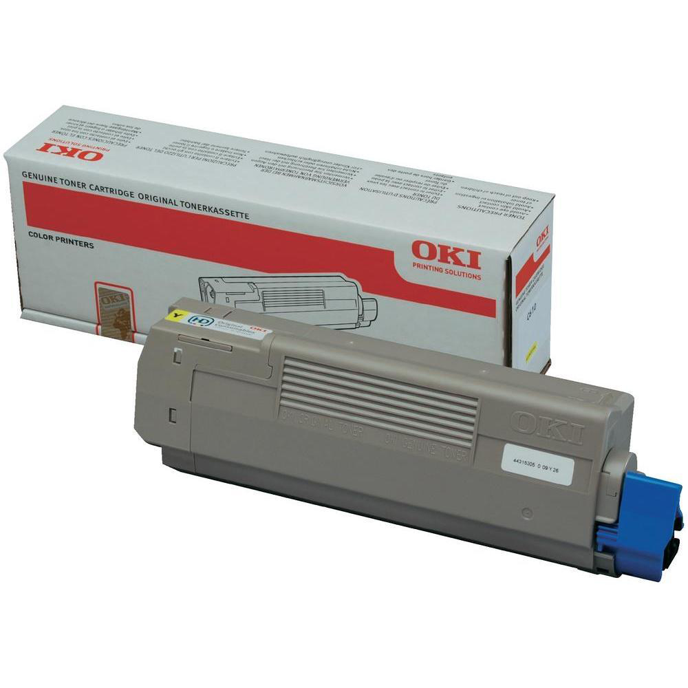 Oki C610 Toner Cartridge Page Life 6000pp Yellow Ref 44315305