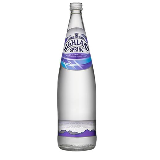 Highland Spring Still Mineral Water Bottle Glass 1 litre Ref 22103 [Pack 12]