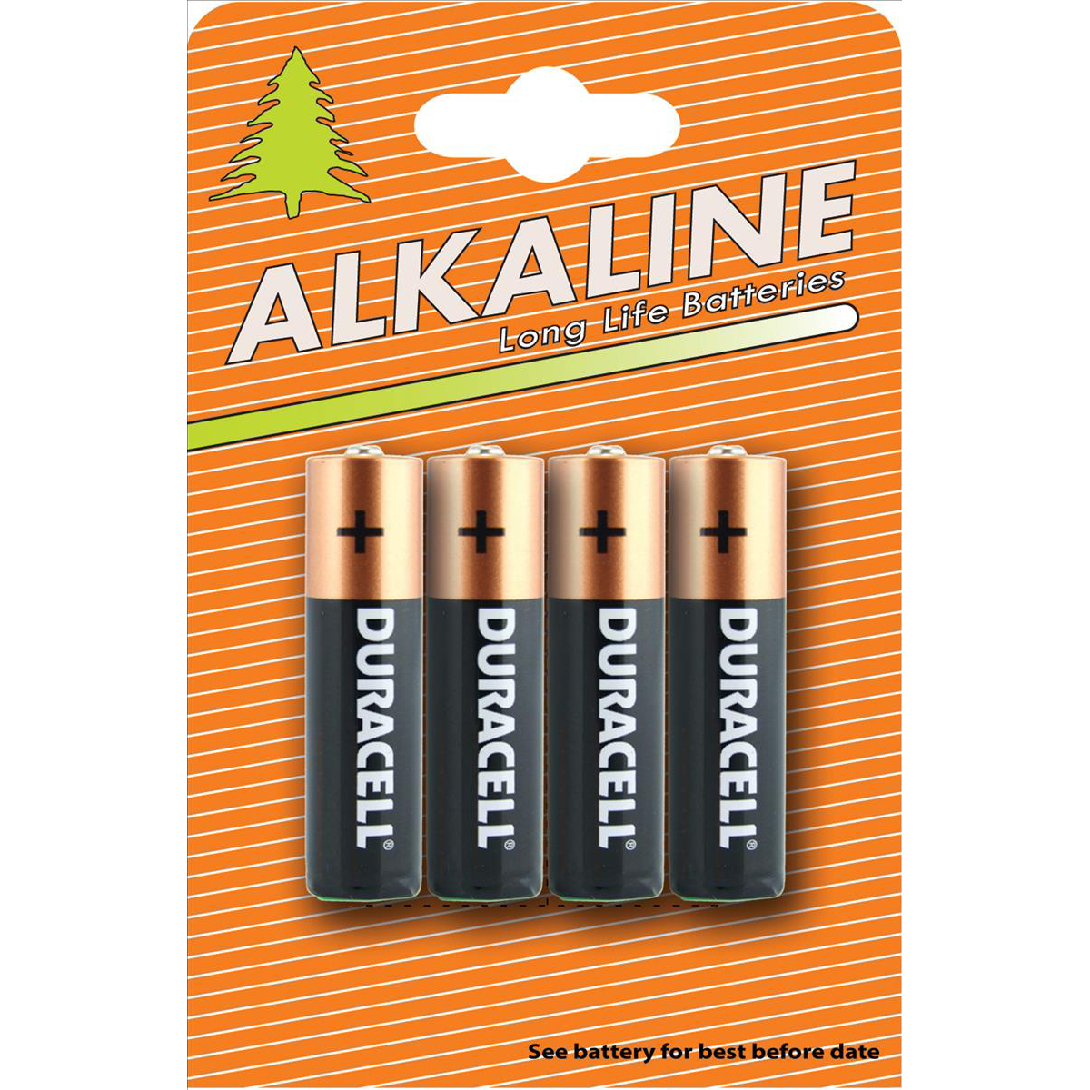 AAA Duracell Plus Power Battery Alkaline AA Ref AADURIND4 Pack 4