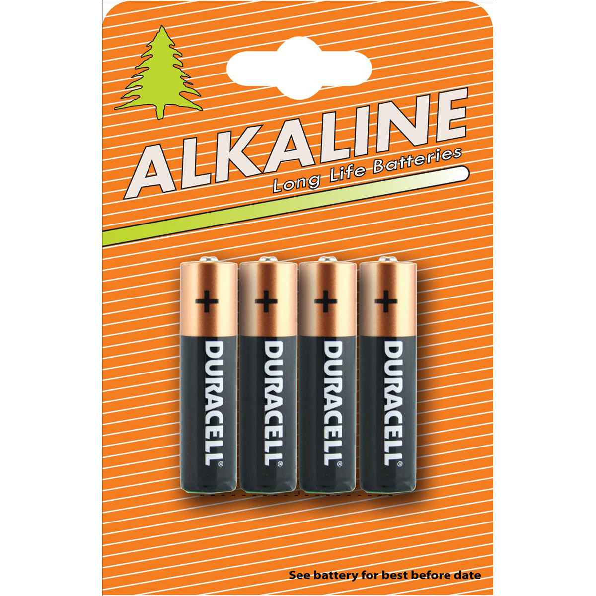 Duracell Plus Power Battery Alkaline AAA Ref AAADURIND4 Pack 4