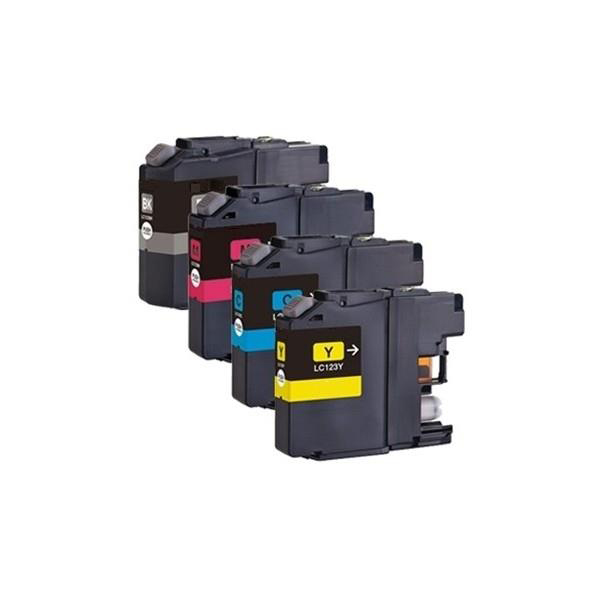 Brother Inkjet Cartridge Value Pack Page Life 600pp Black/Cyan/Magenta/Yellow Ref LC123VALBP Pack 4