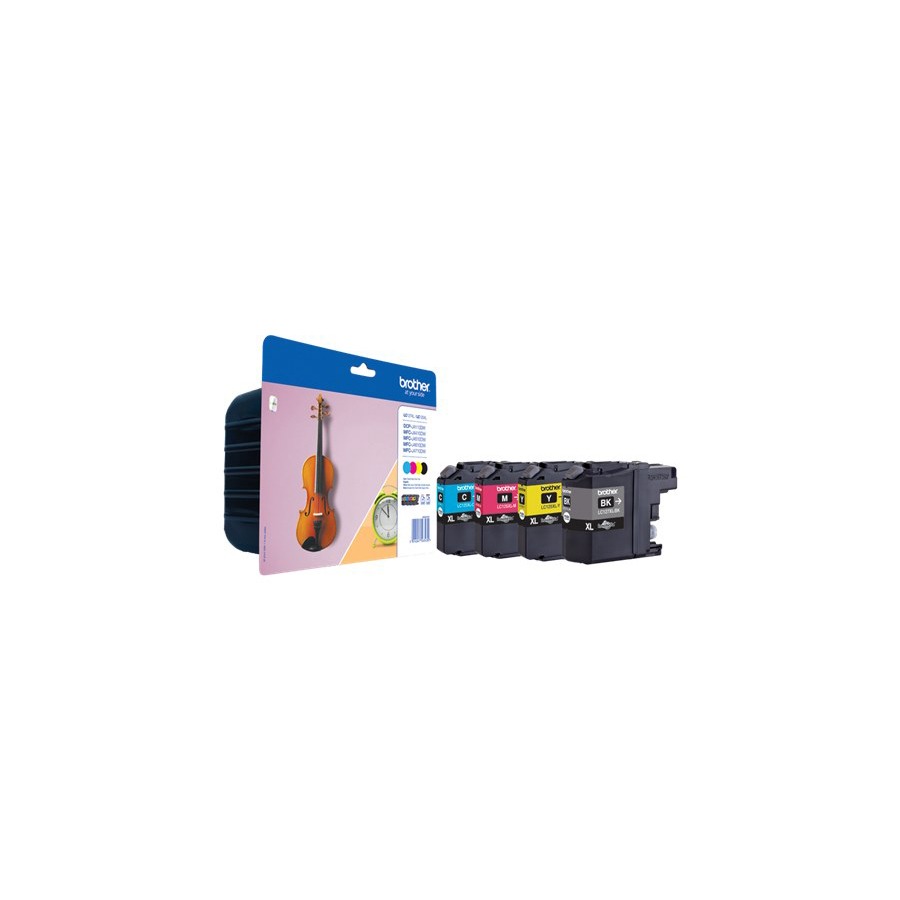 Brother Inkjet Cartridge High Yield Page Life 1200pp Black/Cyan/Magenta/Yellow Ref LC227XLVALBP [Pack 4]