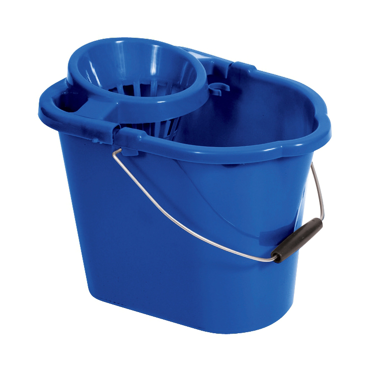 Buckets Oval Mop Bucket 12 Litre Blue