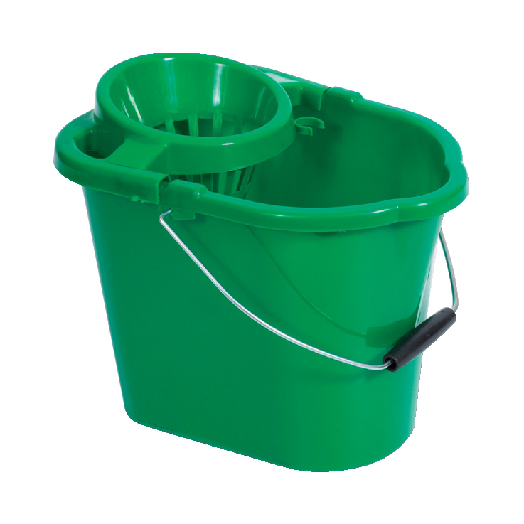 Buckets Oval Mop Bucket 12 Litre Green