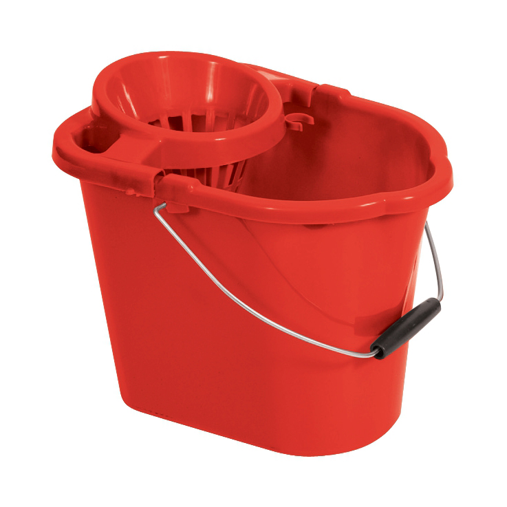 Buckets Oval Mop Bucket 12 Litre Red