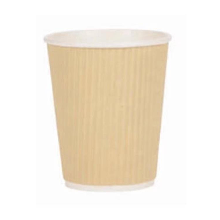Paper Cup Ripple Wall PE Lining 8oz 236ml Corrugated Case Brown Kraft Ref 0511094 Pack 500