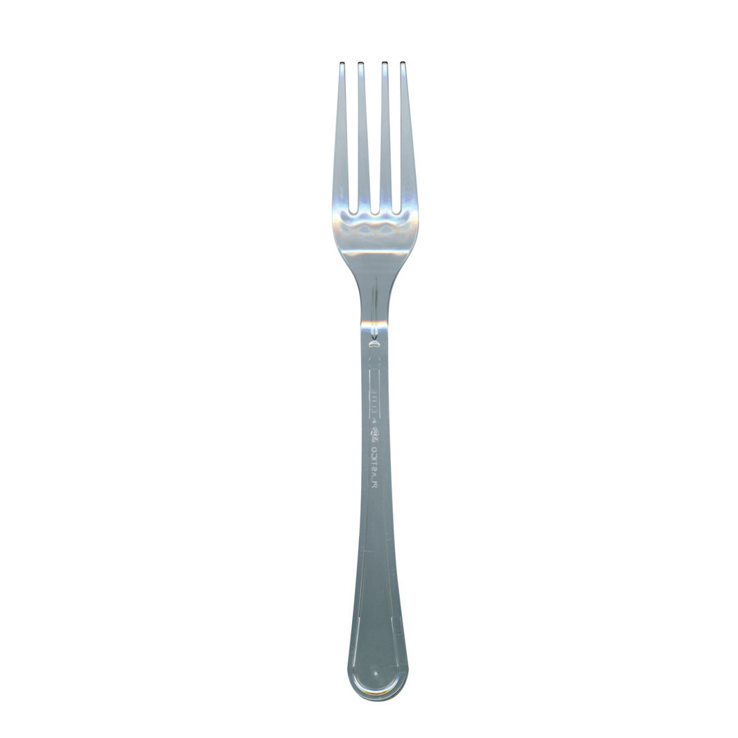 Cutlery Premium Forks Disposable Plastic Clear Ref FSUN Pack 1000