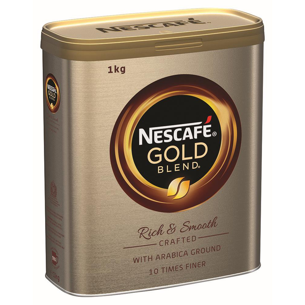 Nescafe Gold Blend Coffee 1kg Tin Ref 12339241