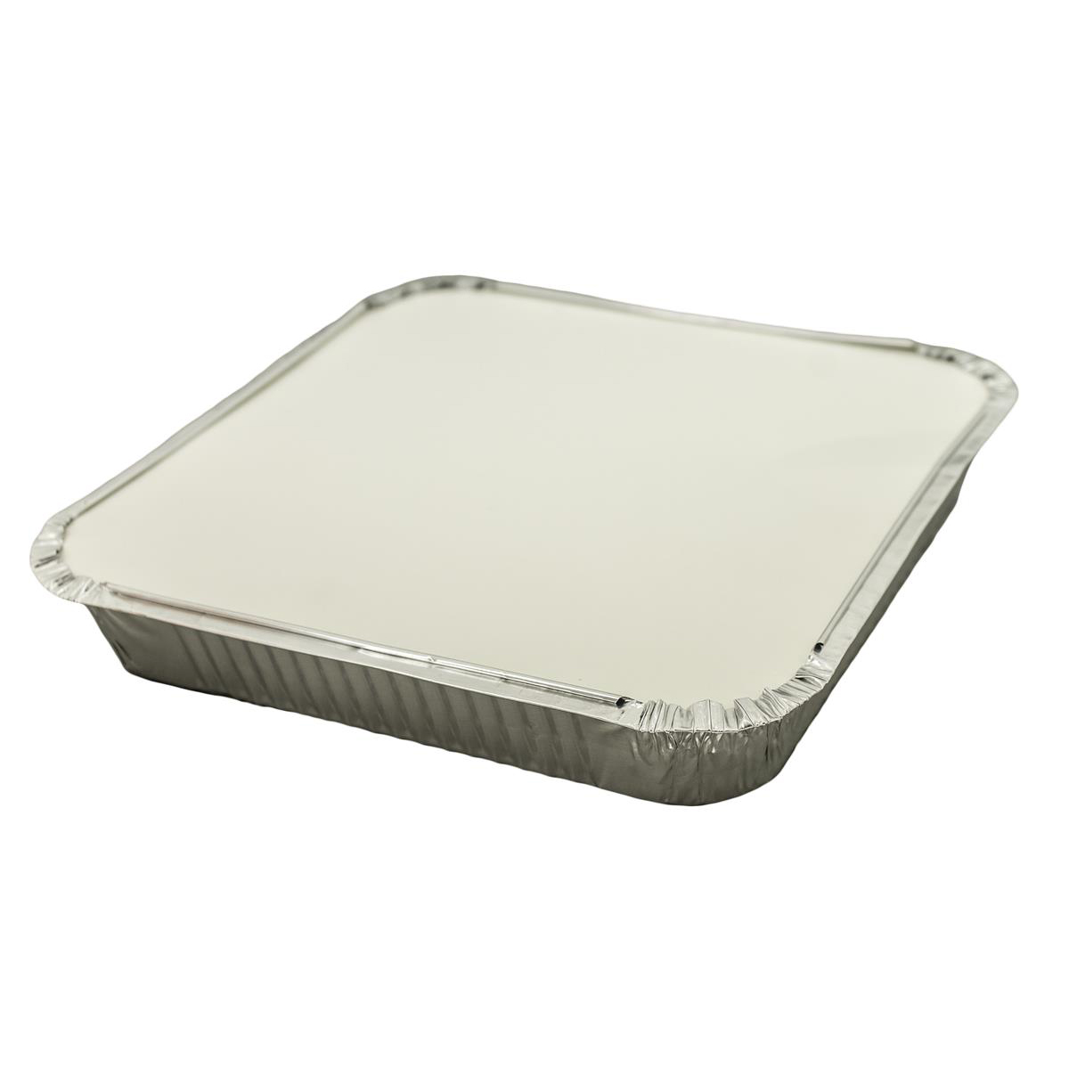 Caterpack Foil Food Container with Lid W230xD230mm Ref 03882 [Pack 10]
