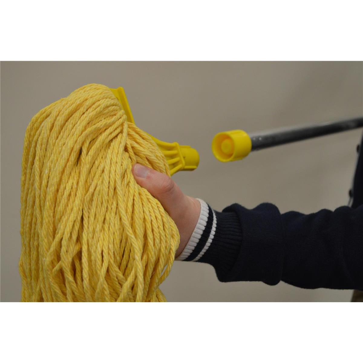 Scott Young Research Interchange SYRTex Socket Midi Mop Head 14oz Yellow Ref MHMDY