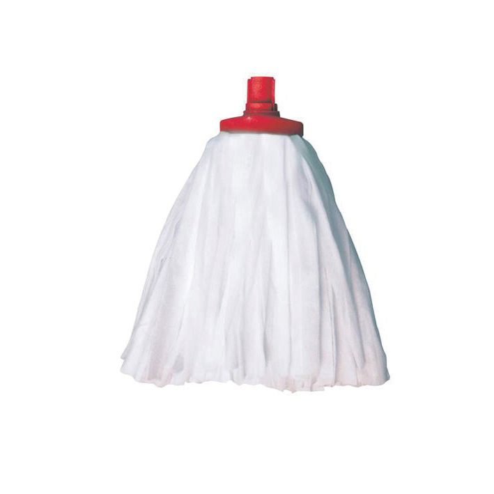 Mops & Buckets Scott Young Research Interchange Sorb Socket Mini Mop Head 12oz Red Ref SSMHR