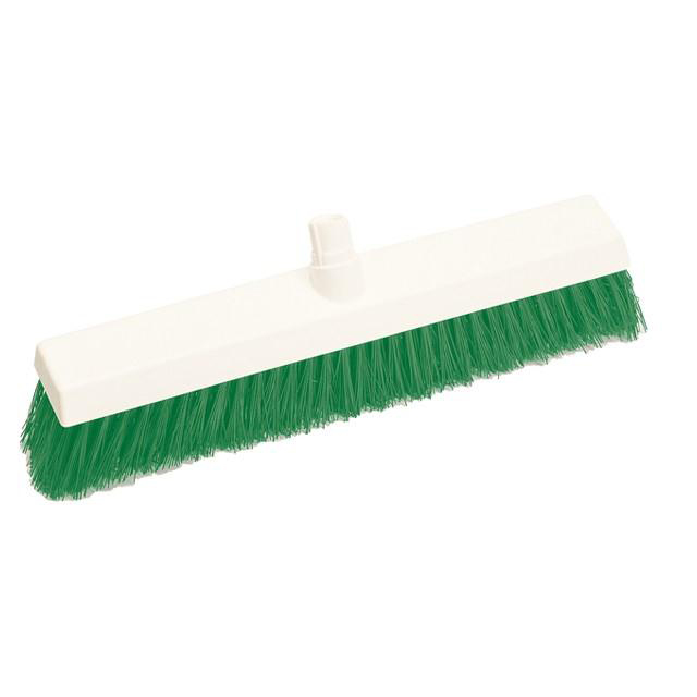 Scott Young Research Interchange Hygiene Hard Broom Head 12 inch Green Ref BHY12HG