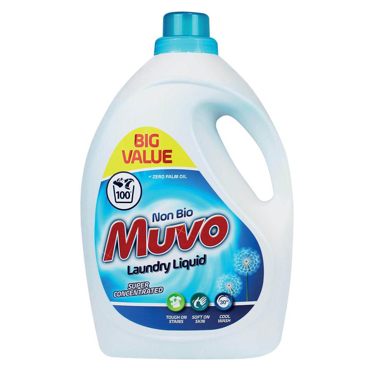 Image for Muvo Professional Liquid Laundry Detergent Non Bio 100 Washes 3 Litres Ref M3000MLNB100