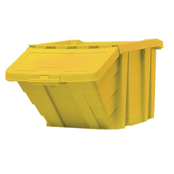 Recycling Bins Recycle Storage Bin and Lid Yellow 400x635x345mm