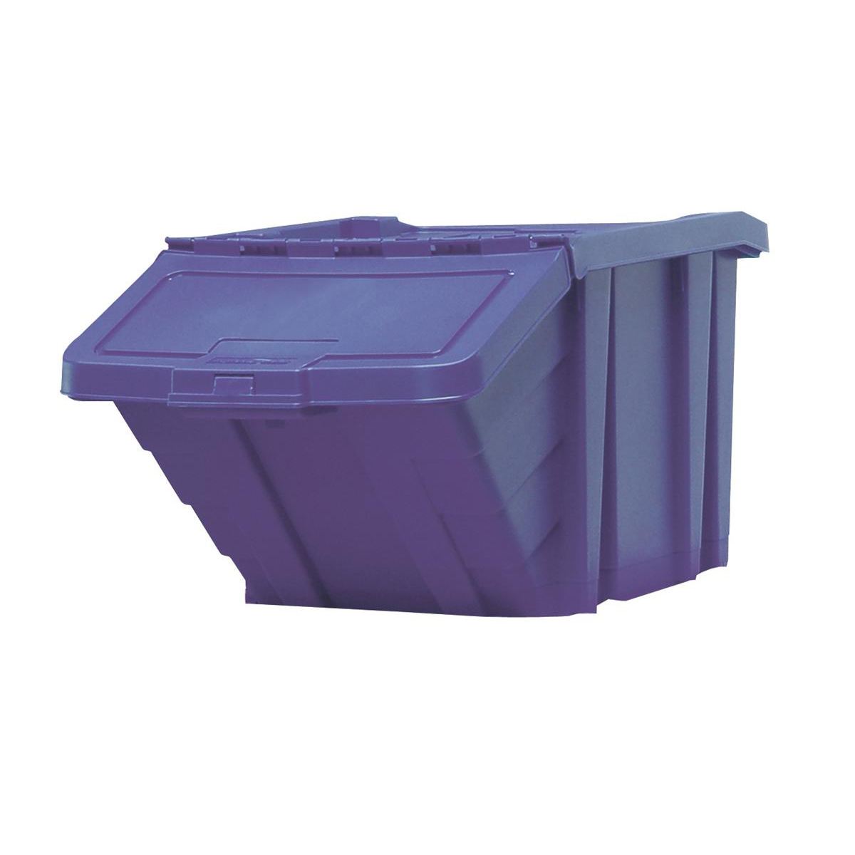 Recycling Bins Recycle Storage Bin and Lid Blue 400x635x345mm
