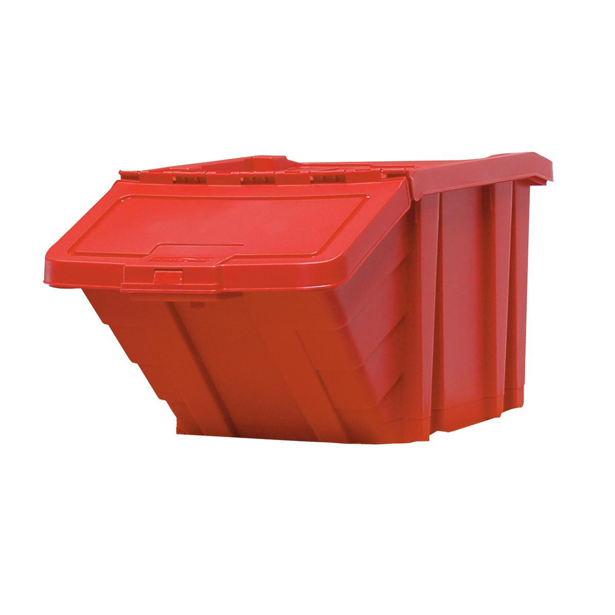 Recycle Storage Bin and Lid Red 400x635x345mm